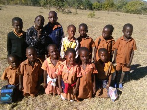 some of the kids to benefit from the project